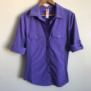 Lucy purple button down shirt